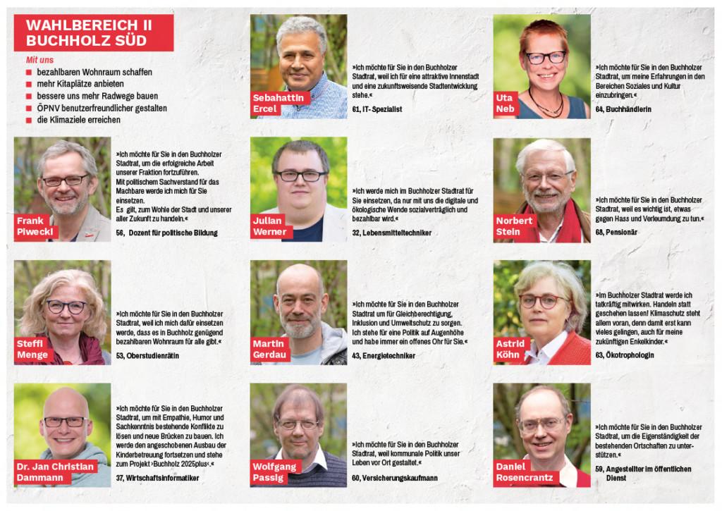 Kandidaturen Wahlbereich Buchholz II