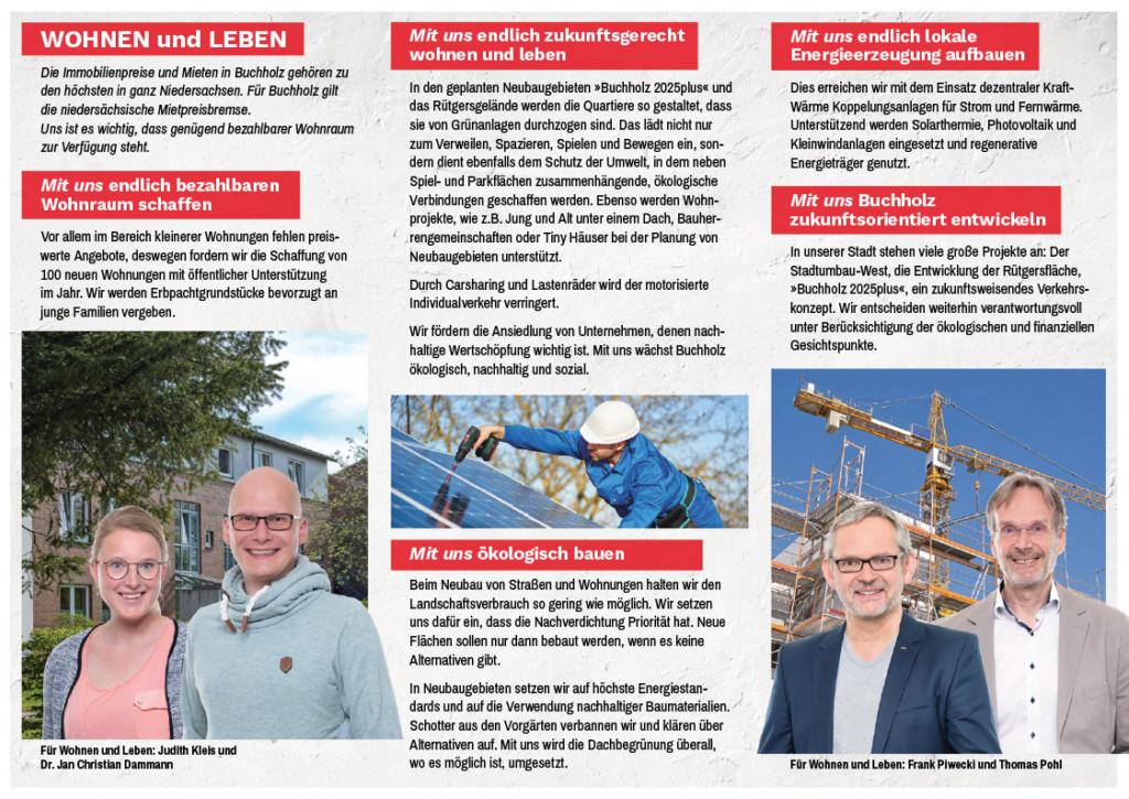 SPD Flyer Wohnen