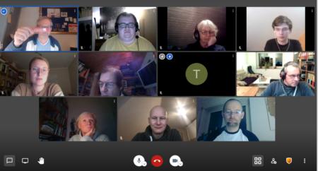 Screenshot digitale Besprechung