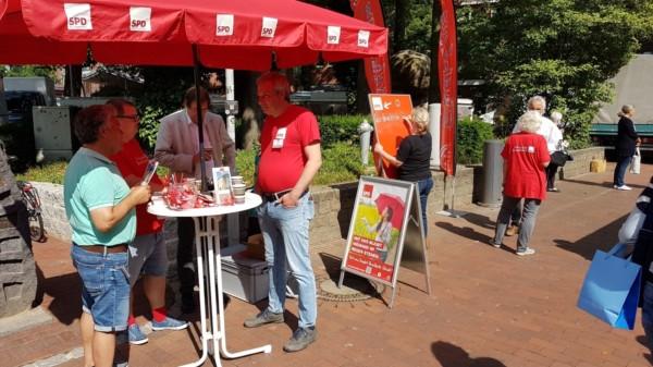 SPD Stand Soziales und Kultur