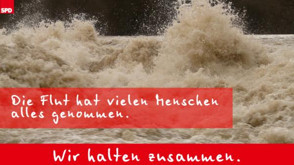 Spenden für die Flutopfer